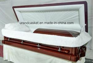 High Gloss Full Couch with Feet Cover Velvet Interior Luxury Casket