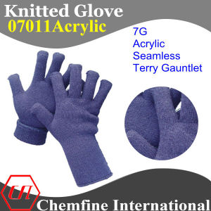 7g Blue Acrylic Fiber Seamless Terry Knitted Gauntlet pictures & photos