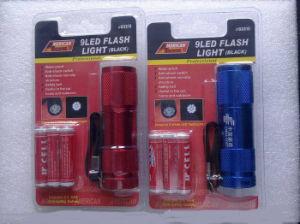 Popular 9 LED Yellow Flashlight (ETE05114) pictures & photos