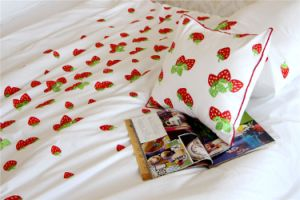 Strawberry Embroidery Duvet Cover Sets pictures & photos