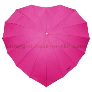 High Quality Heart-Shaped Golf Umbrella Unique (UB002)