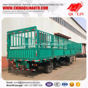 Cargo Transport High Strength Steel Side Wall Fence Semi Trailer pictures & photos