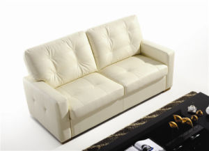 Leather Sofa Bed for Living Room Used pictures & photos