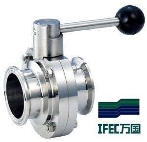 Sanitary Stainless Steel Clamp Butterfly Valve pictures & photos