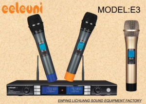 UHF&Pll Synthesized Dual Channels Wireless Microphone