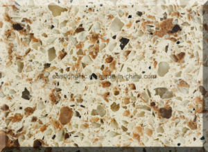 Beige Color Artificial Quartz Stone Slabs for Sale pictures & photos