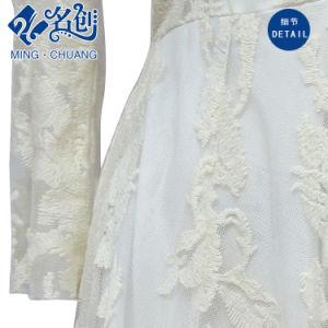 White Ladies Fashion Lace Dress V-Neck pictures & photos