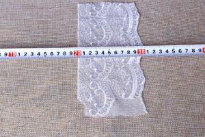 Popular Cotton/Nylon/Polyester Elastic Lace Fabric pictures & photos