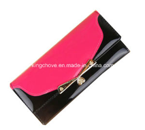 Fashion Pink with Black Trimming PU Cosmetic Bag / Fashion Bag (KCW03) pictures & photos