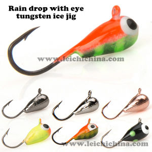 Top Quality Raindrop with Eye Tungsten Ice Fishing Jig pictures & photos