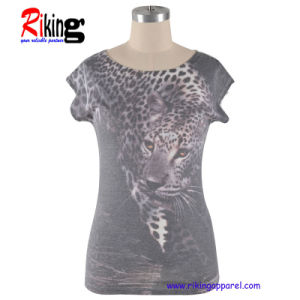 Fashion Womens Digital Printing T-Shirts (RKT1305)