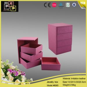 Pink Removable Trays Jewelry Storage Box (8065) pictures & photos