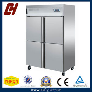 Restaurant Equipment Stainless Steel Four Door Fridge for Kitchen pictures & photos