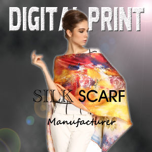 Colorful Silk Scarf Fabric Printing (X1085) pictures & photos