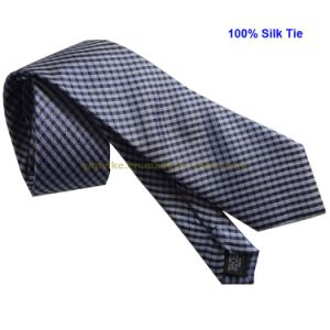 Top Quality 100% Silk Fashion Men Tie 2400d Checker Design (TS2400D) pictures & photos