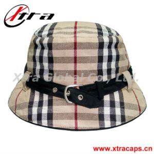 Fashion Plaid Fashionable Hat Lady Cap (XT-H001) pictures & photos
