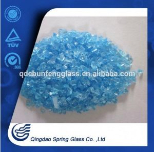 Indigo Blue Glass Particles Directly From Factory pictures & photos