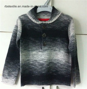 Boys Shawl Collar True Knitted Sweater pictures & photos