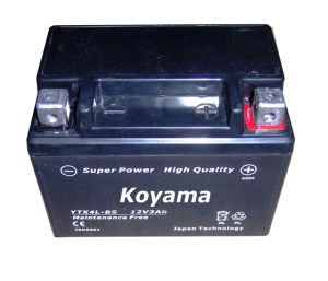 High Quality AGM Motorcycle Starting Battery -Ytx4l-Bs-12V3ah pictures & photos