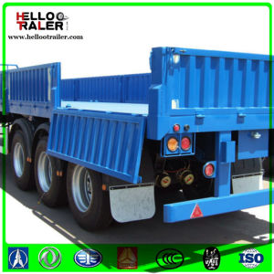China Supplier Wall Side Cargo Truck Trailer, 3 Axle Cargo Trailer for Africa pictures & photos