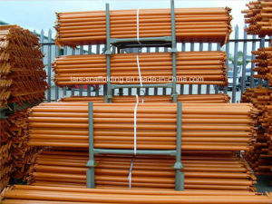 Yellowpainted Quick Stage Scaffolding Kwikstage Ledger/Horizontal for Construction pictures & photos
