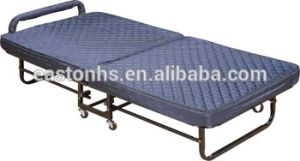 Heavy Duty Wheels Extra Wide Cotton Bed Sheet Fabric Hotel Extra Bed Folding Bed pictures & photos
