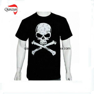 2016 Black Printing T-Shirt pictures & photos