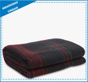 Warm Winter Soft Fleece Black Red Plaid Blanket pictures & photos