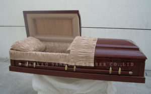 American-Style Wooden Casket Gwf01-03 pictures & photos