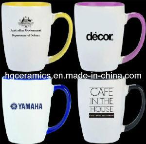 14oz Ceramic Mug, 14oz Color Handle Mug pictures & photos