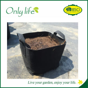 Onlylife Outdoor Durable Square Aeration Fabric Pot Planting Grow Bag pictures & photos