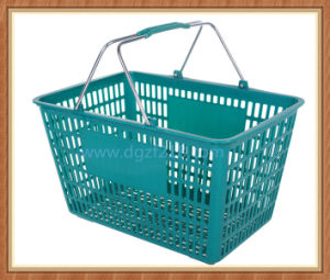 Colored Customized Portable Plastic Supermarket Basket for Shopping pictures & photos