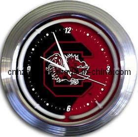 South Carolina Neon Clock