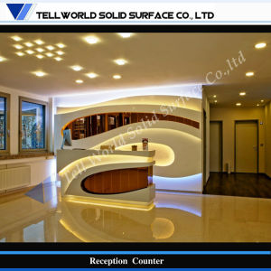Acrylic Stone Beauty Salon Reception Desk (TW-PACT-026) pictures & photos