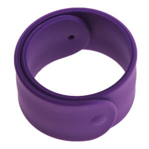 One Inch Stainless Steel Silicone / PVC Slap Wristbands pictures & photos