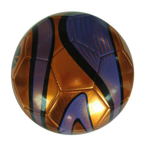 Machine Stitched Shiny PVC Football (XLFB-102) pictures & photos