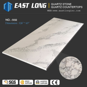 Polished Calacatta Quartz Stone for Kitchentop with Solid Surface pictures & photos