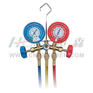 CT-536 F G F/ J Brass Manifold Gauges Set for R134A Double Gauges Manifold Set Air Conditioner Parts Refrigeration Parts Refrigeration Tools pictures & photos