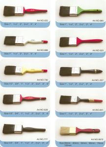 Bristle Paint Brush (PAINTBRUSH PURE BRISTLE, FLAT BRUSH) pictures & photos