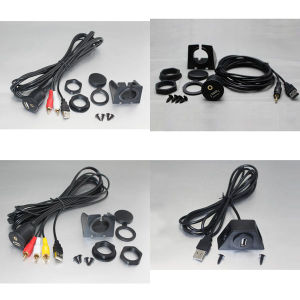 Dashboard Flush Mount Installation USB/Aux RCA Audio&Video Accessory Extension Cable