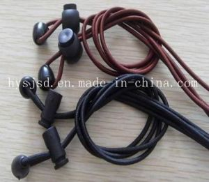 Best Quality and Best Price Latex Elastic Round Shoelace with Plastic Lock pictures & photos