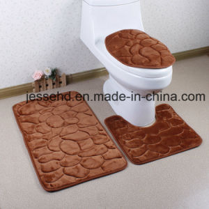 Washable and Comfortable 3PCS Flannel Bathroom Floor Rug Set pictures & photos