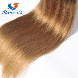 Peruvian Straight Virgin Hair 4 Bundle Ombre Blonde 1b/27 Straight Human Hair Weave Bundles pictures & photos