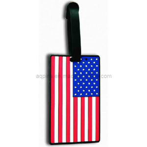 Hot Selling Soft PVC Luggage Tag in USA Flag (LT-02) pictures & photos