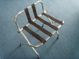 Chrome Luggage Rack with Backrest