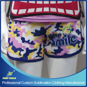 Girl′s Custom Sublimation Running Shorts pictures & photos