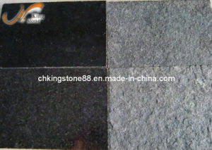 High Quality Diamond Black Granite Tiles with Flamed Surface (KSBG1311)