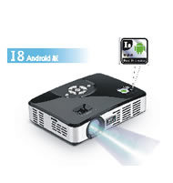 Android DLP Portable LED Pico Projector for Household