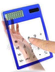 Touch Screen Transparent Calculator