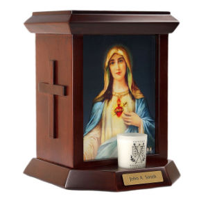 Immaculate Heart Solid Wood Urn pictures & photos